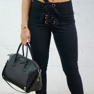 Pants - 🔃 STRIKE Black High-Waist Legging